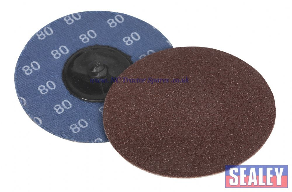 Quick Change Sanding Disc 75mm 80Grit Pack of 10